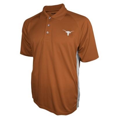 Texas Longhorns Mens 3 Button Polo Orange L