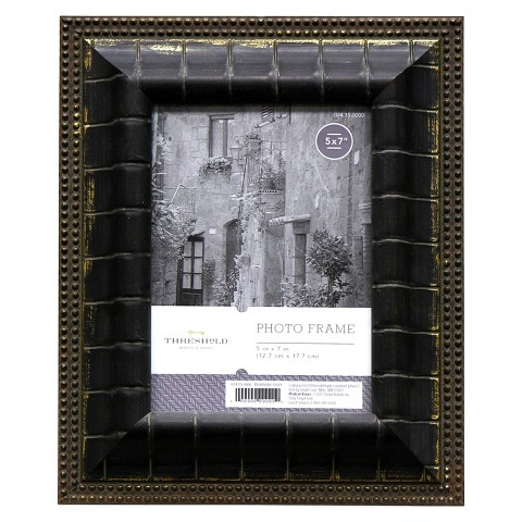 Threshold™ Picture Frame - Black and Gold 5X7
