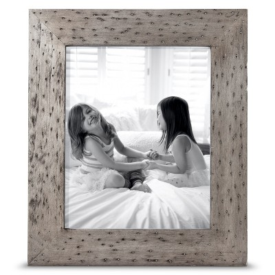 "8""x10"" Rustic Wood Frame Silver - Threshold™"