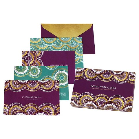 16CT Peacock Boxed Notecards