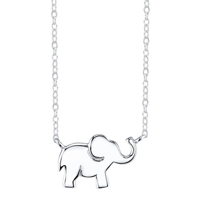 Sterling Silver Chain with Elephant Pendant - Silver