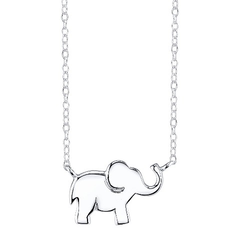 sterling silver chain with elephant pendant si target