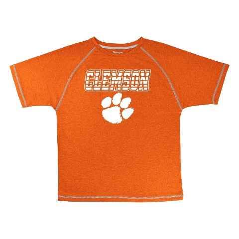 Clemson Tigers Boys Short-Sleeve Synthetic Tee -Orange