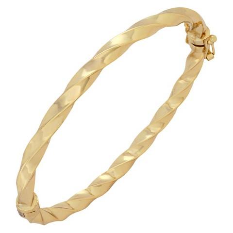 Bronze Twist Bangle - Gold