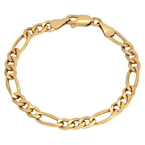 Bronze Figaro Bracelet - Gold