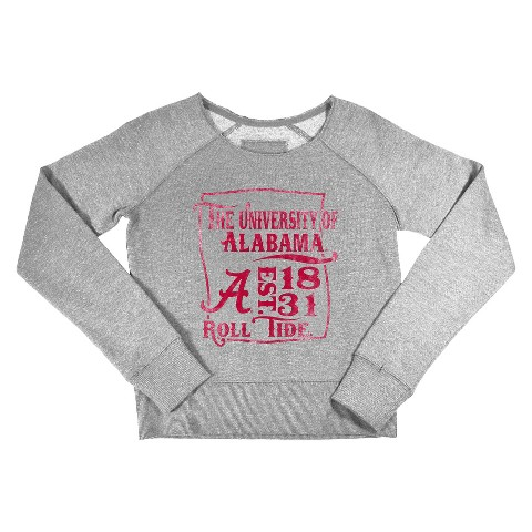 Alabama Crimson Tide Girls Sweatshirt in Grey