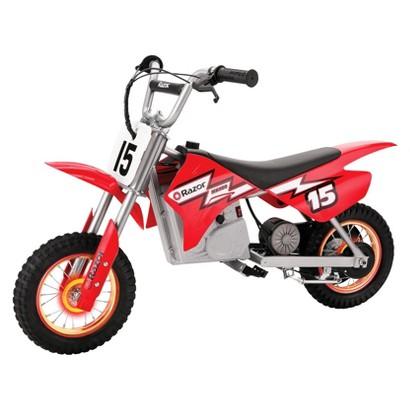 Razor MX400 Dirt Bike with Lighted Valve Red