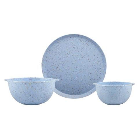 Zak Designs  Sprinkles 12-Piece Dinnerware Set - Sky Blue