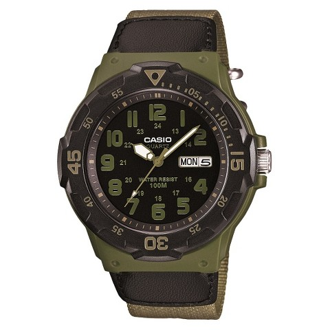 Men's Casio Cloth Strap Watch - Black