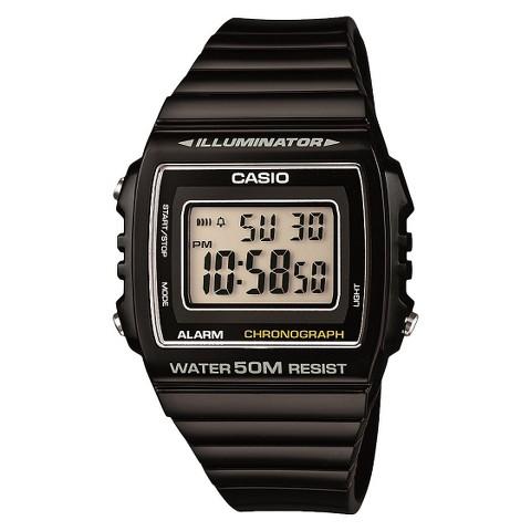 Casio Women's Digital Watch - Black - W215H-1A