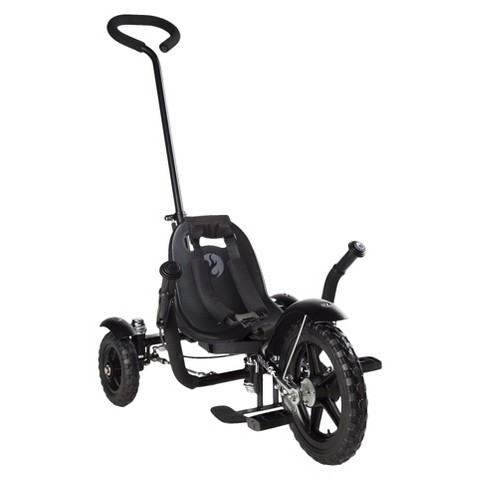"""Mobo Total Tot (Black): The Roll-to-Ride Three Wheeled Cruiser (12"""")"""