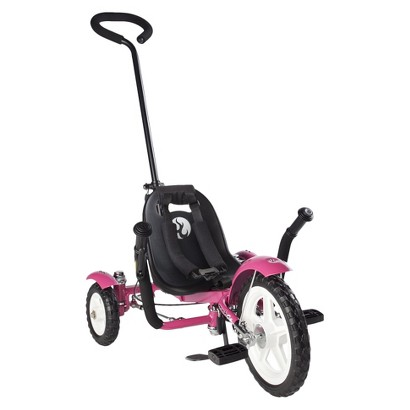 """Mobo Total Tot (Pink): The Roll-to-Ride Three Wheeled Cruiser (12"""")"""