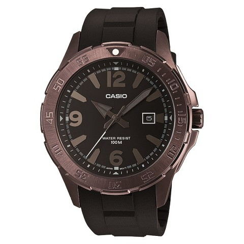 Casio Men's Dive Style Watch - Brown - MTD1073-1A1V