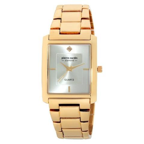 Men's Pierre Cardin Diamond Dial Watch - Gold