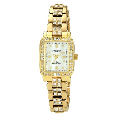 Women's Armitron Crystal Watch - Gold