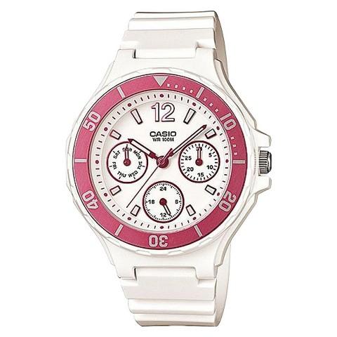 Casio Women's Bezel Watch - Pink/White - LRW250H-4A