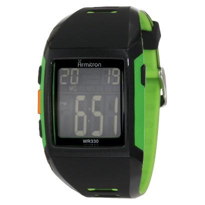 Men's Armitron Digital Sport Watch - Black/Green