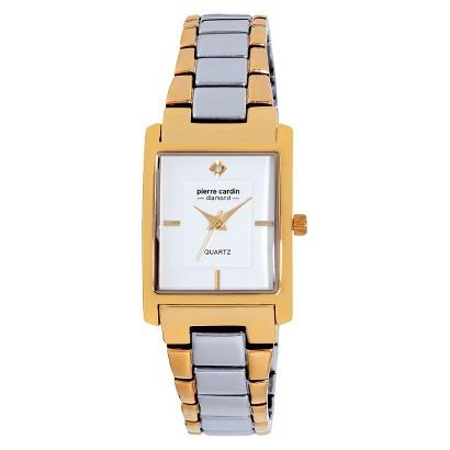 Women's Pierre Cardin Diamond Dial Watch - Gold