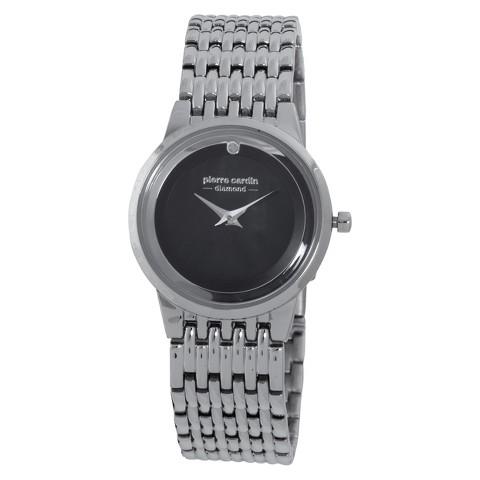 Women's Pierre Cardin Diamond Dial Watch - Silver