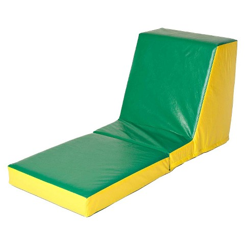 foamnasium™ Video Floor Lounger Play Furniture - Green/ Yellow