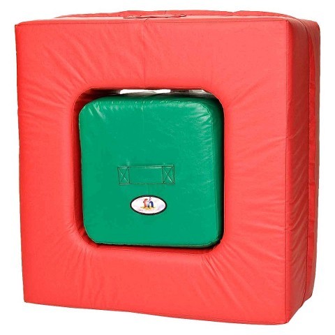 foamnasium™ Square In Square Play Furniture - Red/ Green