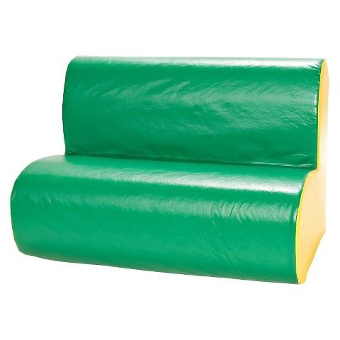 foamnasium™ Cloud Sofa Play Furniture - Green/ Yellow