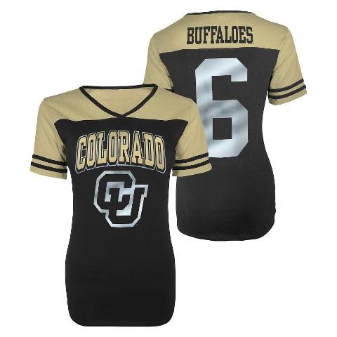 Juniors' Colorado Buffaloes V-Neck Shirt - Black