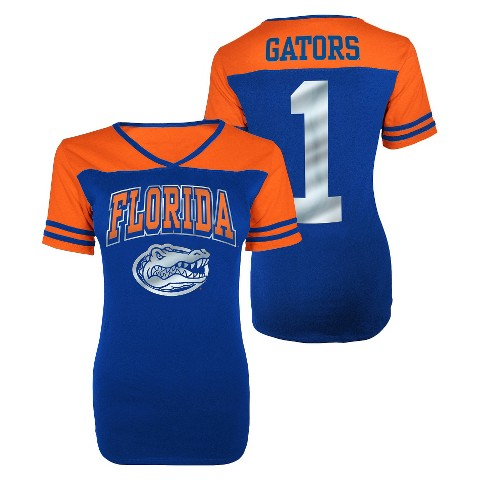 Juniors' Florida Gators V-Neck Shirt - Blue