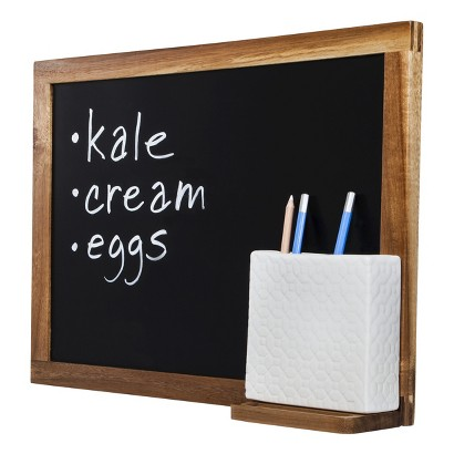 THRESHOLD™ ACACIA WOOD CHALKBOARD WITH PEN HOLDER