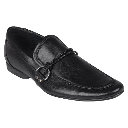 Men's Boston Traveler Almond Toe Slip-on Loafers - Black
