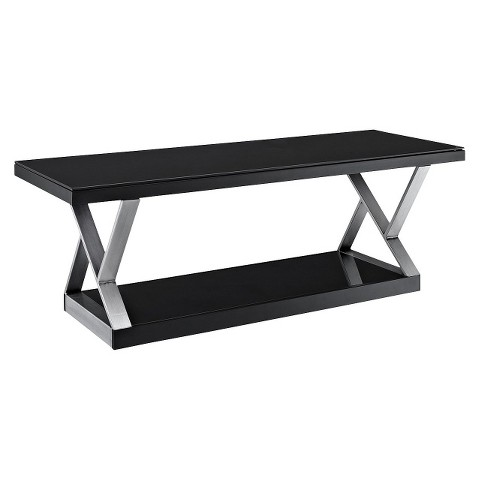"""Double X-Frame TV Stand - 65"""""""