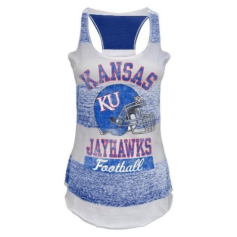 Kansas Jayhawks Juniors Tank White