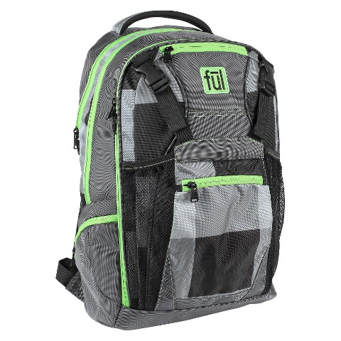 FUL Checkered Backpack - Grey/Green