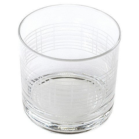 Threshold™ Etched Glass Double Old Fashioned Glass Set of 4