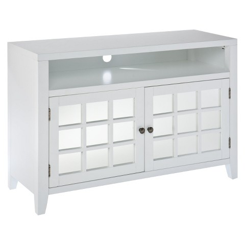Southern Enterprises Marcus Mirrored TV Stand