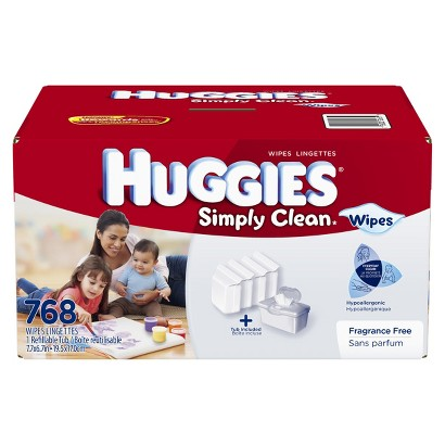 Huggies Simply Clean Baby Wipes Refill with Tub - 768 Count