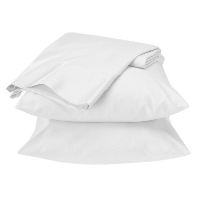 Egyptian Cotton 500 Thread Count Geometric Sheet Set - True White (Queen) - Fieldcrest™
