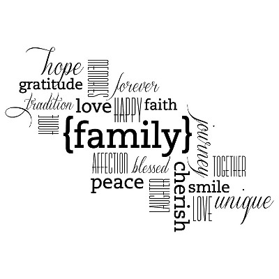 Family Wall Decal - Medium