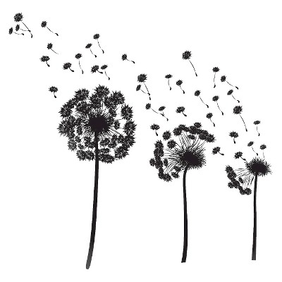 Dandelion Wall Decal - Medium