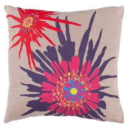 """Bold Floral Toss Pillow - 18x18"""""""