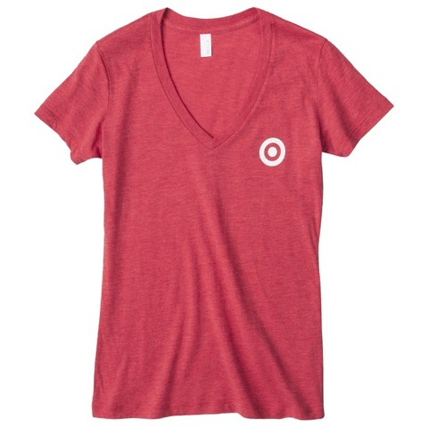 Junior's V-Neck Red T-Shirt