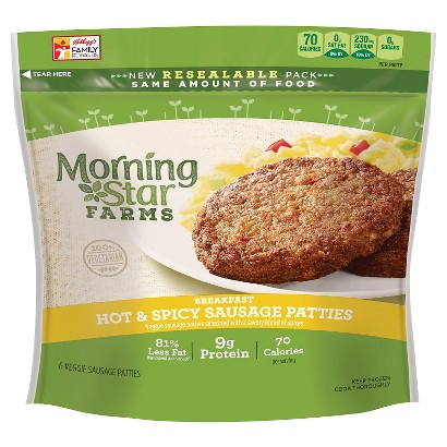 Morning Star Farms Hot & Spicy Veggie Sausage Patties 8 oz