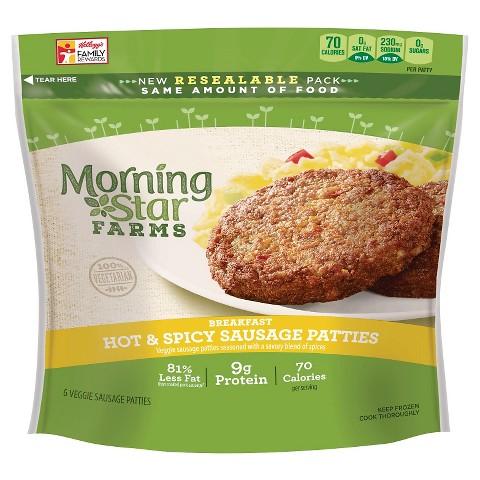 Morning Star Farms Hot & Spicy Veggie Sausage Patties 8 oz