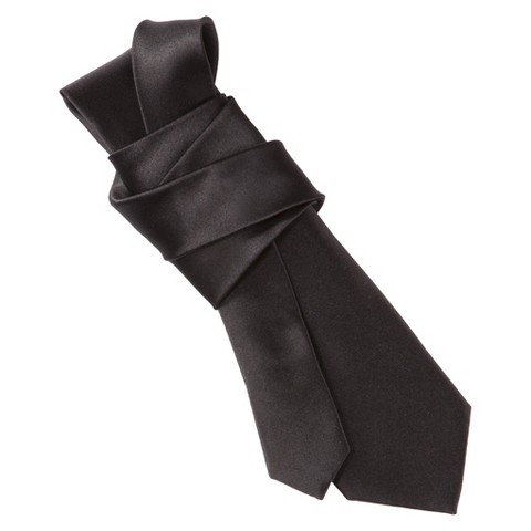 Merona® Men's Skinny Solid Satin Tie - Black