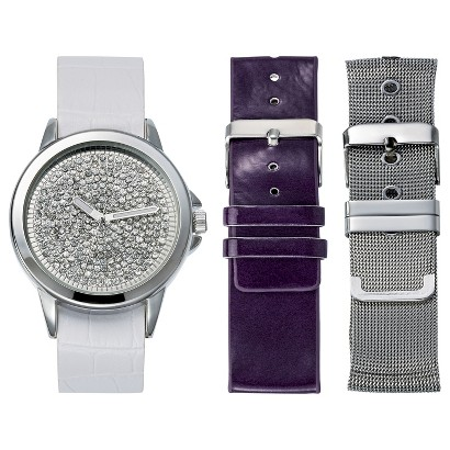 Women's Xhilaration® Analog Wristwatch with Replacement Straps - Multicolor