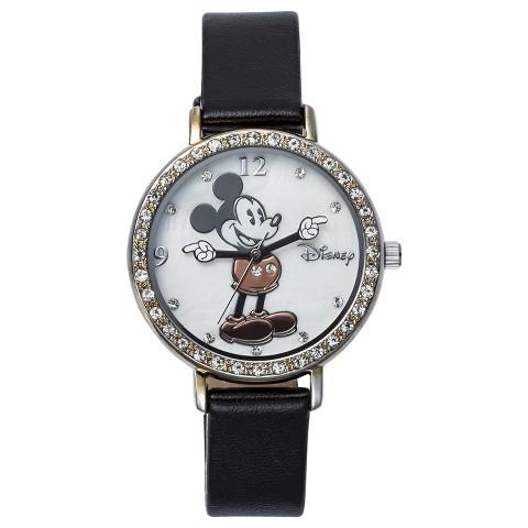 Disney Mickey Mouse Analog Wristwatch - Black
