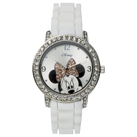 Disney Minnie Mouse Analog Wristwatch - White