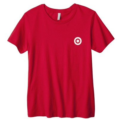 Misses' Red Crew Neck T-shirt