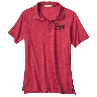Men's Jersey Red Short Sleeve Polo