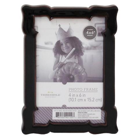 Threshold™ Scalloped Frame - Black 4X6